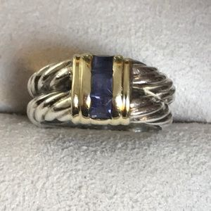 Authentic David yurman Ring w/ purple blue stone